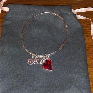 Alex and Ani silver tone heart bracelet